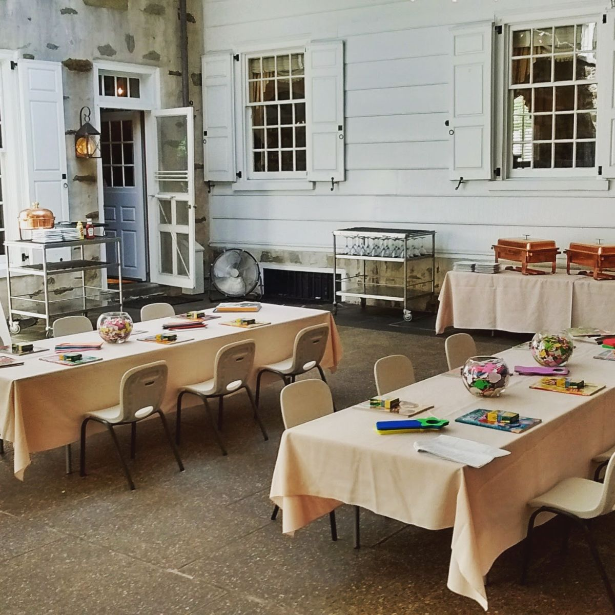 tables prepared for a special event